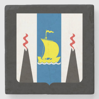 Coat of arms of Sakhalin oblast Stone Coaster