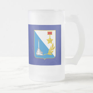 Coat of arms of Sevastopol Frosted Glass Beer Mug