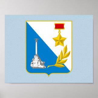 Coat of arms of Sevastopol Poster