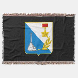 Coat of arms of Sevastopol Throw Blanket