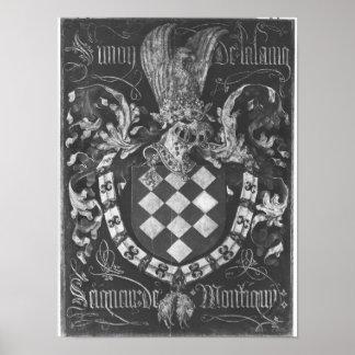 Coat of Arms of Simon de Lalaing Poster