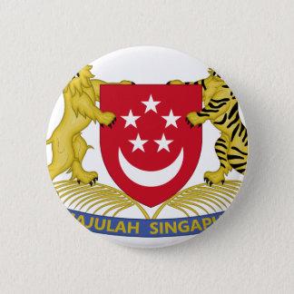 Coat of arms of Singapore 新加坡国徽 Emblem 6 Cm Round Badge
