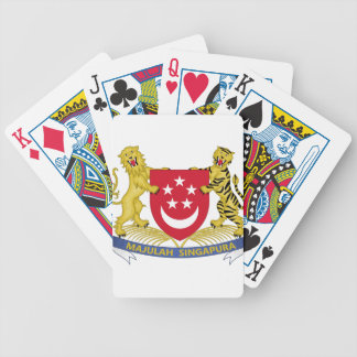 Coat of arms of Singapore 新加坡国徽 Emblem Bicycle Playing Cards