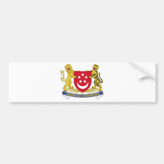 Coat of arms of Singapore 新加坡国徽 Emblem Bumper Sticker