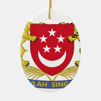 Coat of arms of Singapore 新加坡国徽 Emblem Ceramic Ornament