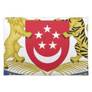 Coat of arms of Singapore 新加坡国徽 Emblem Placemat