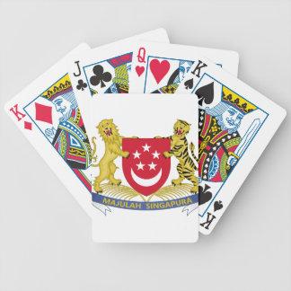 Coat of arms of Singapore 新加坡国徽 Emblem Poker Deck