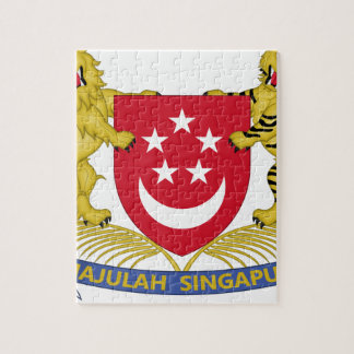 Coat of arms of Singapore 新加坡国徽 Emblem Puzzle