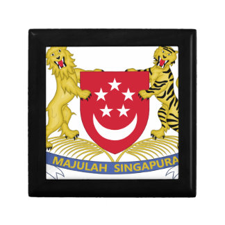 Coat of arms of Singapore 新加坡国徽 Emblem Small Square Gift Box