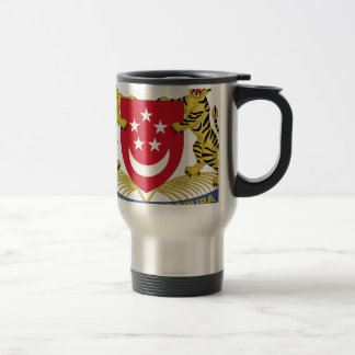Coat of arms of Singapore 新加坡国徽 Emblem Travel Mug
