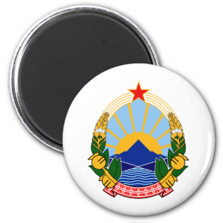 Coat of arms of SR Macedonia 6 Cm Round Magnet
