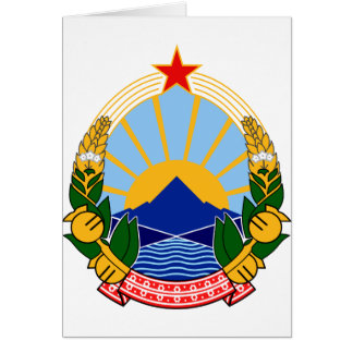 Coat of arms of SR Macedonia Card