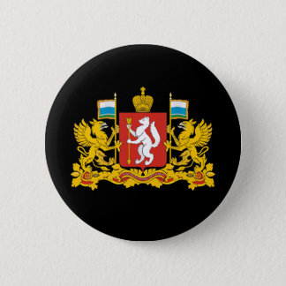 Coat of arms of Sverdlovsk oblast 6 Cm Round Badge