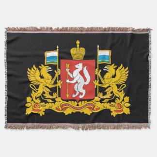 Coat of arms of Sverdlovsk oblast Throw Blanket