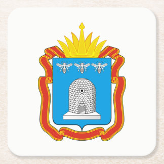 Coat of arms of Tambov oblast Square Paper Coaster
