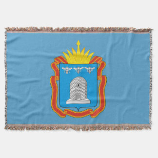 Coat of arms of Tambov oblast Throw Blanket