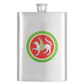 Coat of arms of Tatarstan Hip Flask