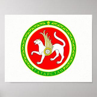 Coat of arms of Tatarstan Poster