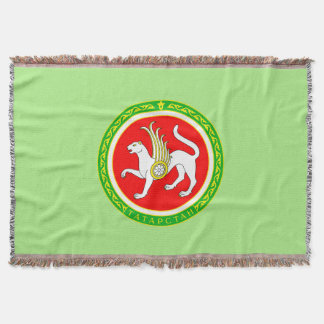 Coat of arms of Tatarstan Throw Blanket