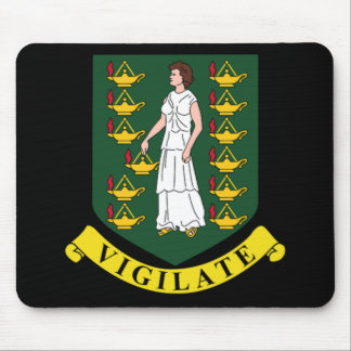 Coat of arms of the British Virgin Islands Mouse Pad