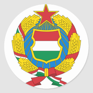 Coat of Arms of the Communist Hungary Classic Round Sticker