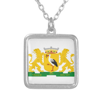 Coat of arms of The Hague Silver Plated Necklace