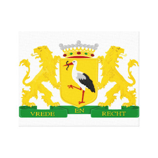 Coat of arms of The Hague, The Netherlands. Canvas Print