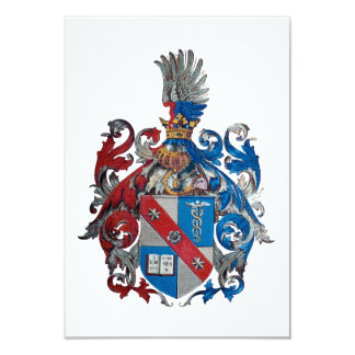 Coat of Arms of the Ludwig Von Mises Family 9 Cm X 13 Cm Invitation Card