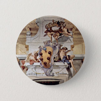Coat Of Arms Of The Medici., By Ricci Sebastiano 6 Cm Round Badge