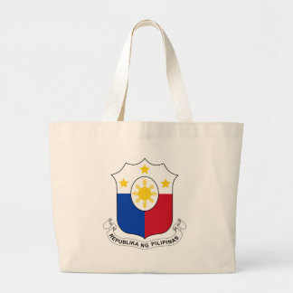 Coat_of_arms_of_the_Philippines_(per_1998_Law) Large Tote Bag