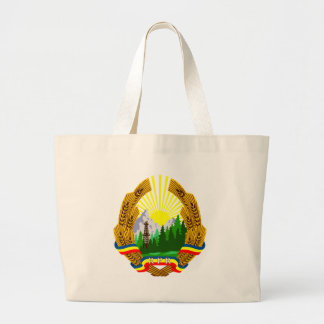Coat_of_arms_of_the_Popular_Republic_of_Romania_(1 Large Tote Bag