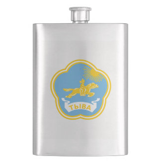 Coat of arms of Tuva Hip Flask