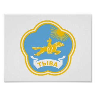 Coat of arms of Tuva Poster