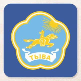 Coat of arms of Tuva Square Paper Coaster