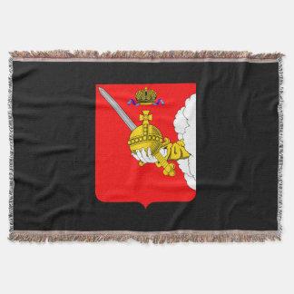 Coat of arms of Vologda oblast Throw Blanket