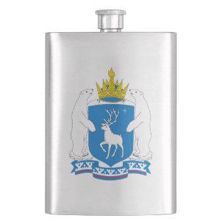 Coat of arms of  Yamal-Nenetsia Hip Flask
