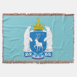 Coat of arms of  Yamal-Nenetsia Throw Blanket