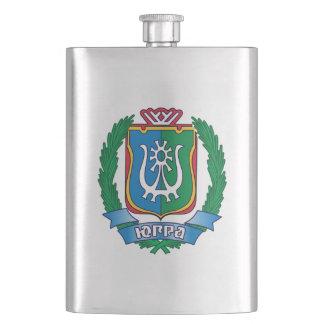 Coat of arms of  Yugra Hip Flask
