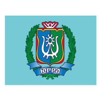 Coat of arms of  Yugra Postcard