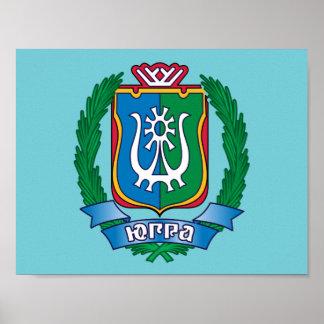 Coat of arms of  Yugra Poster