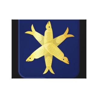 Coat of arms of Zandvoort Canvas Print