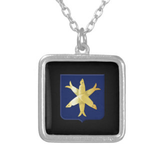 Coat of arms of Zandvoort Silver Plated Necklace