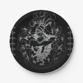 Coat of arms paper plate
