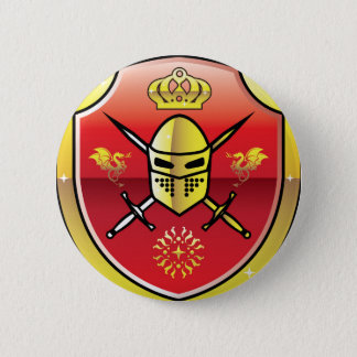 Coat of Arms Royal Knight logo 6 Cm Round Badge