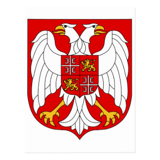 Coat of arms Serbia & Montenegro Official Symbol Postcard