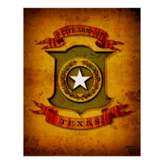 COAT of ARMS - TEXAS 1876 Poster