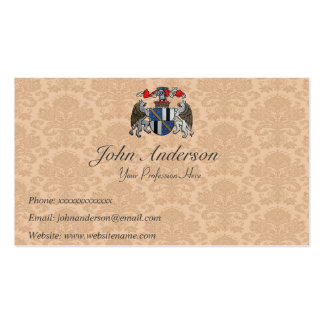Coat of Arms - Two Griffins and Helmet Pack Of Standard Business Cards