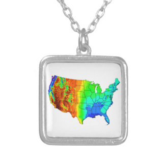 Coat of Many Colors Silver Plated Necklace