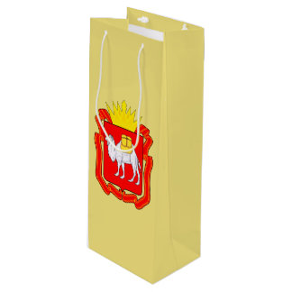 Coat of of Chelyabinsk Wine Gift Bag