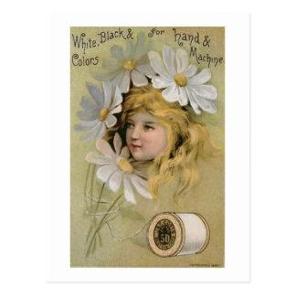 Coats Thread - Daisy Girl Postcard